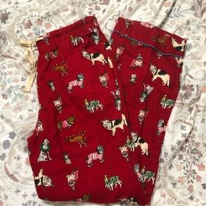 Old navy flannel dog print pajamas
